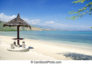beach and coast near dili in east timor - areia branca beach...