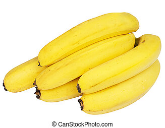Banana - bananas on white background