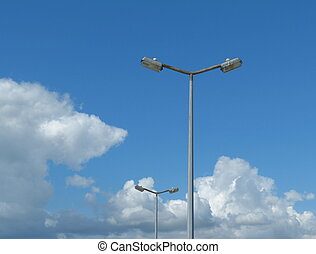 Lamposts against blue sky - Two lamposts against blue sky...