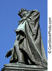 Statue of King Charles IV in Prague