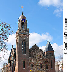 Building of Remonstrant church in Rotterdam, Netherlands