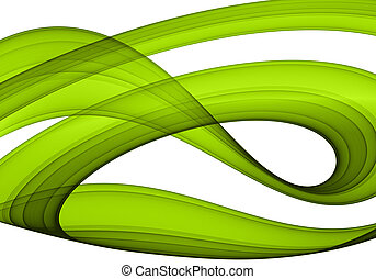 green abstract formation over white - design element