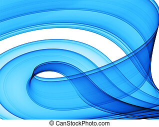 blue dynamic abstraction - blue formation over white -...