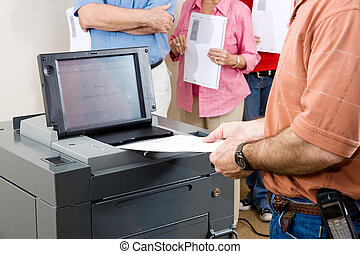 Florida Election 2008 - Closeup of a man feeding his ballot...