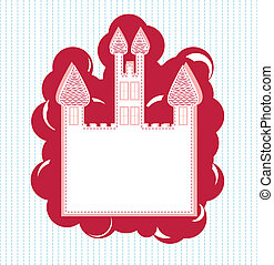 A greeting card with castle