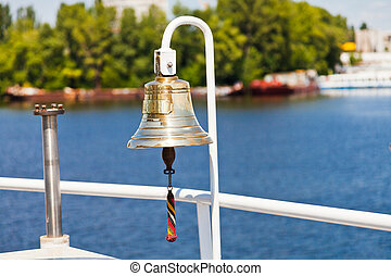 ship's bell on river vessel