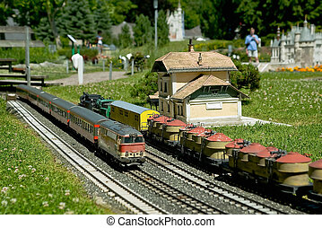 Railway model in the Minimundus, Klagenfurt, Austria