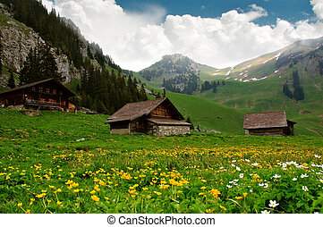 Alpine Huts - Switzerland - Alpine Huts -...