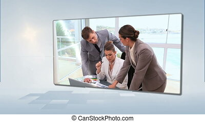 Business people working together - Animation of business...