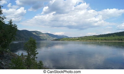 Yenisei River Landscape 02 - View on both shores of the...