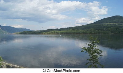 Yenisei River Landscape 01 - View on the both banks of the...