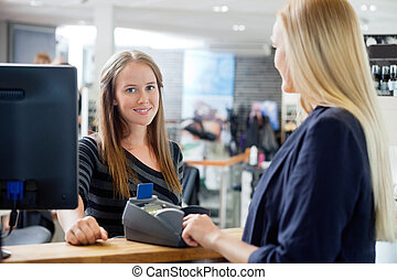 femininas, vendas, escriturário, em, contador