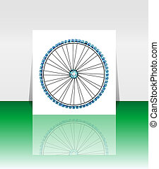 Bike wheel - vector illustration - flyer or cover