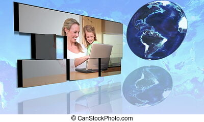 International families using intern - Animation of...