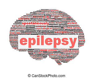 Epilepsy symbol concept isolated on white Neurological...