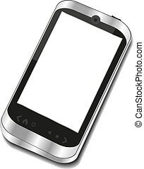 Abstract touchscreen smart phone