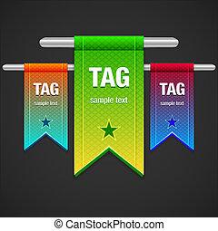Flag Tag Illustration