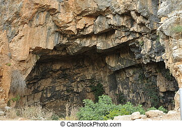 golgotha - Caesarea Philippi in Israel, source of the Jordan...