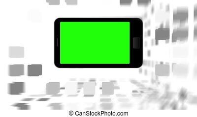 Smartphone screen in chroma key - Animation of a smartphone...