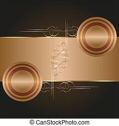 Vector ornate decorative golden frames background