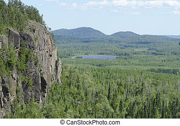 Ouimet Canyon near Thunder bay North of Superior Lake
