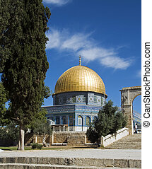 Mosk in Jerusalem with the copper roof - Jerusalem - The...