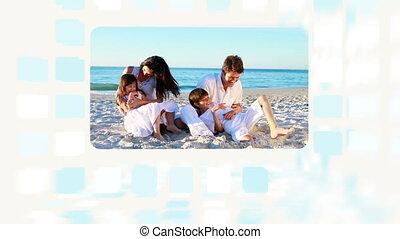 Family enjoying their summer at bea