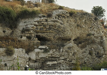 golgotha jesus crucified - One of the locations in Jerusalem...