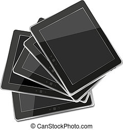 Vector tablets pc isolated on white background