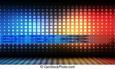 Woman silhouette dancing next to a - Animation of a woman...