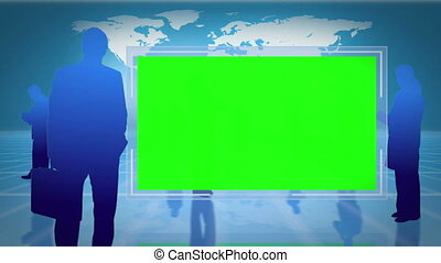 Screens with chroma key space with