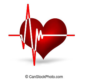 electrocardiogram graph on a white background