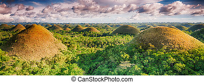 Chocolate Hills - Panorama of The Chocolate Hills. Bohol,...
