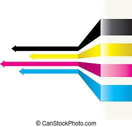 cmyk arrows - cmyk abstract arrow background