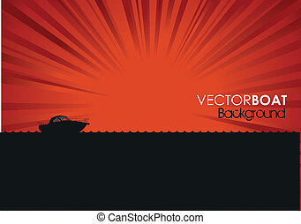 boat background - boat silhouette background