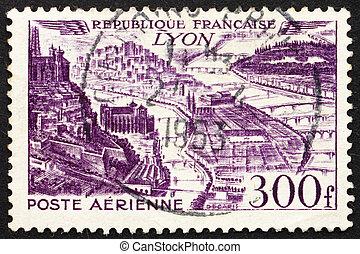 Postage stamp France 1949 Lyon, France - FRANCE - CIRCA...