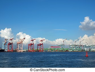 Container Cranes at Kaohsiung Port