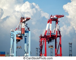 Two Container Gantry Cranes
