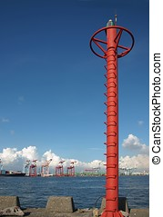 Signal Mast at Kaohsiung Container Port