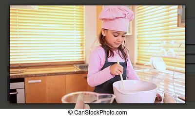 Children preparing delicious pastry - Animation of children...