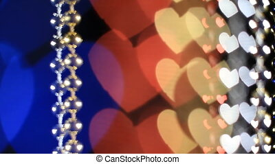 beads - Beads with a heart-shaped bokeh