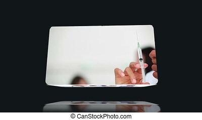 Medical videos against black backgr