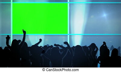 People dancing and chroma key space