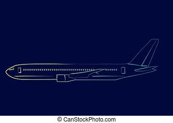 airliner outline