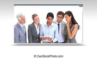 Business team working together and - Animation of a business...