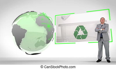 Recycled plastic bottles with an Ea - Animation with...