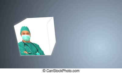Medical people wearing their unifor - Animation of medical...