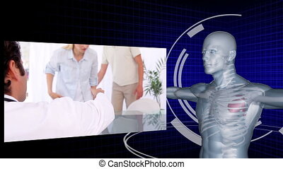 Medical team working on patients x- - Animation of a medical...
