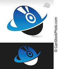 Swoosh Computer Disc Icon - Vector swoosh computer disc...