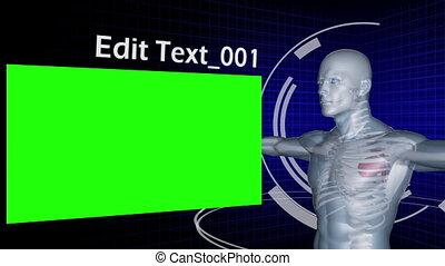 Man digitally created with chroma k - Animation of a man...